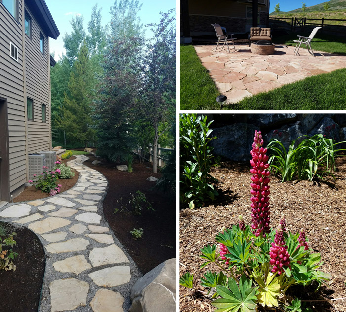 Flagstone Patios. Landscaping